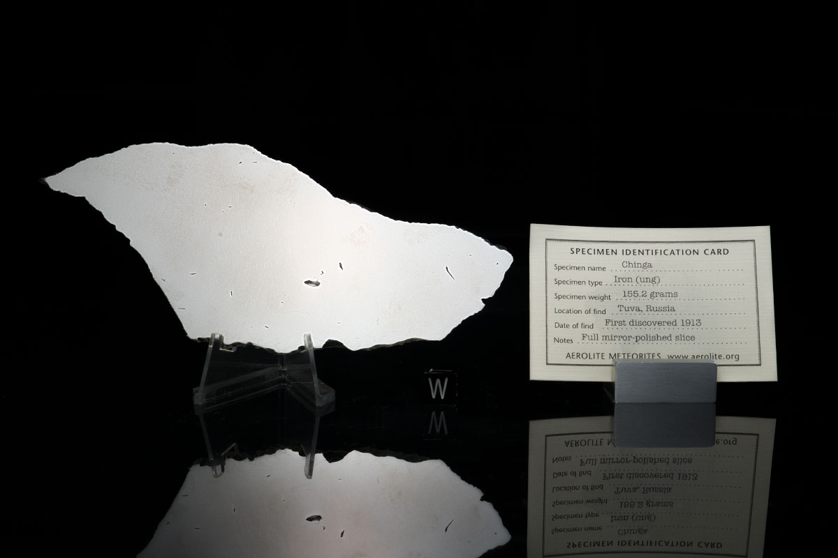 Chinga 155.2 grams with specimen id card