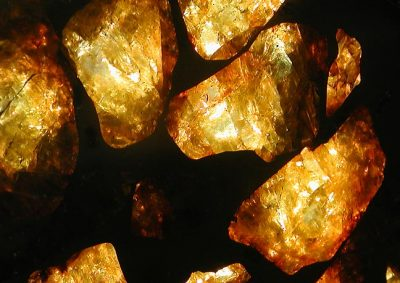 Imilac Pallasite Olivine Crystals Up Close