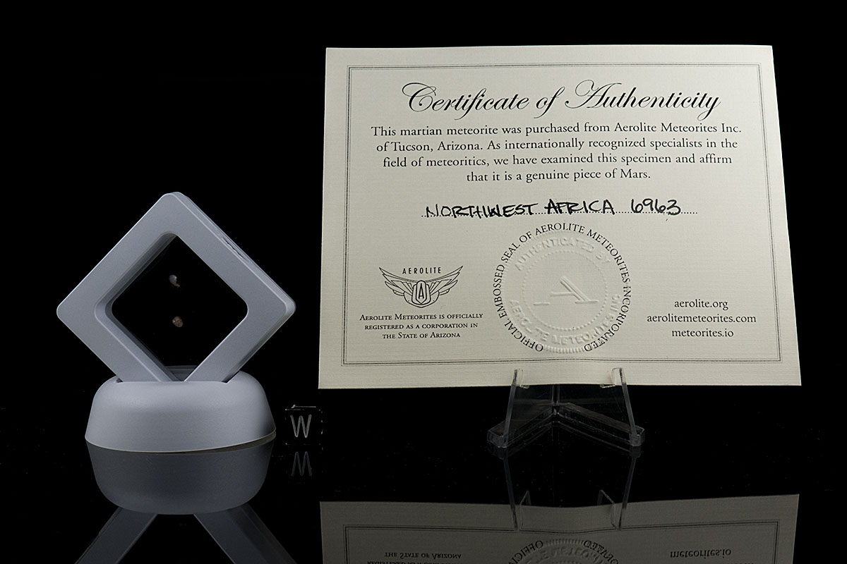NWA 6963 0.085 Grams with certificate of authenticity