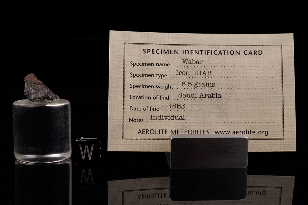 Wabar 6.5 Grams with specimen id card
