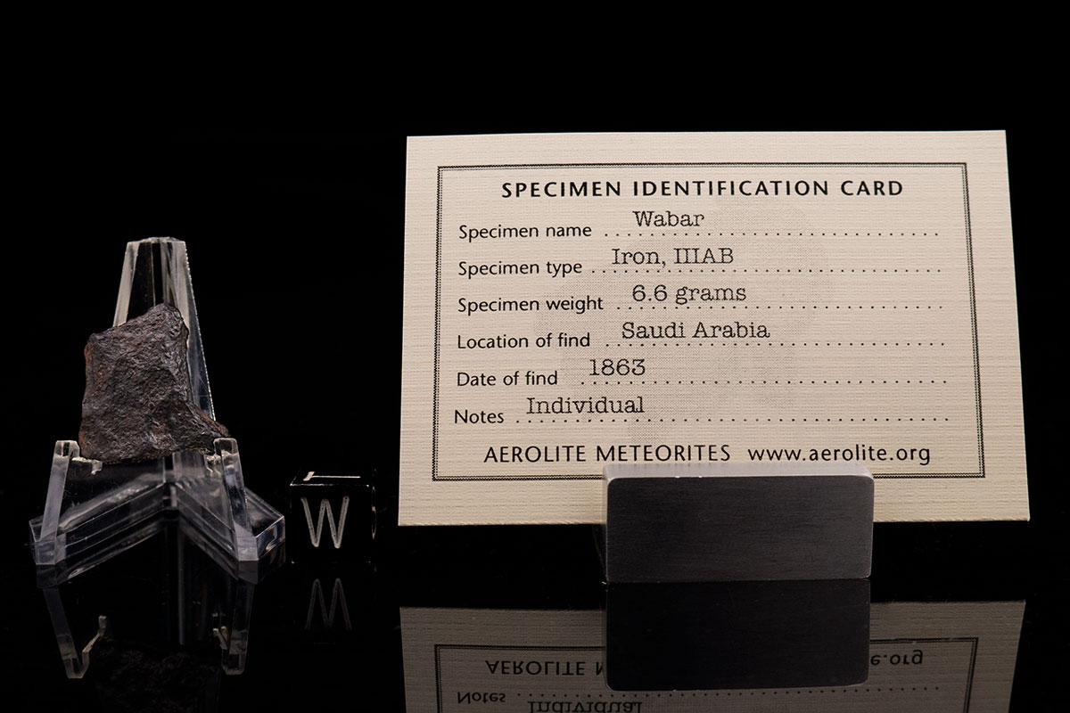 Wabar 66 Grams with specimen id card