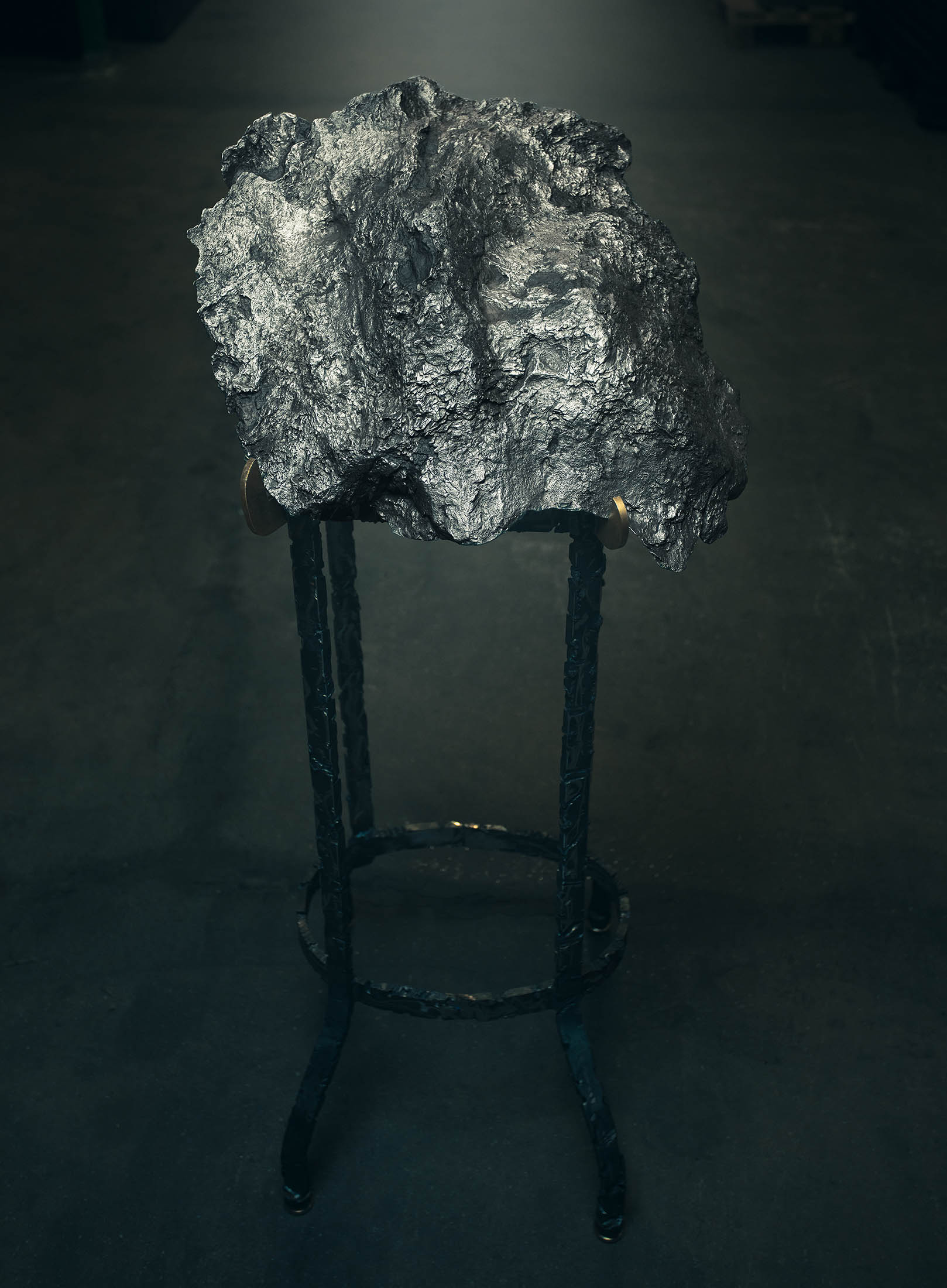 Large Campo del Cielo Iron Meteorite on Stand