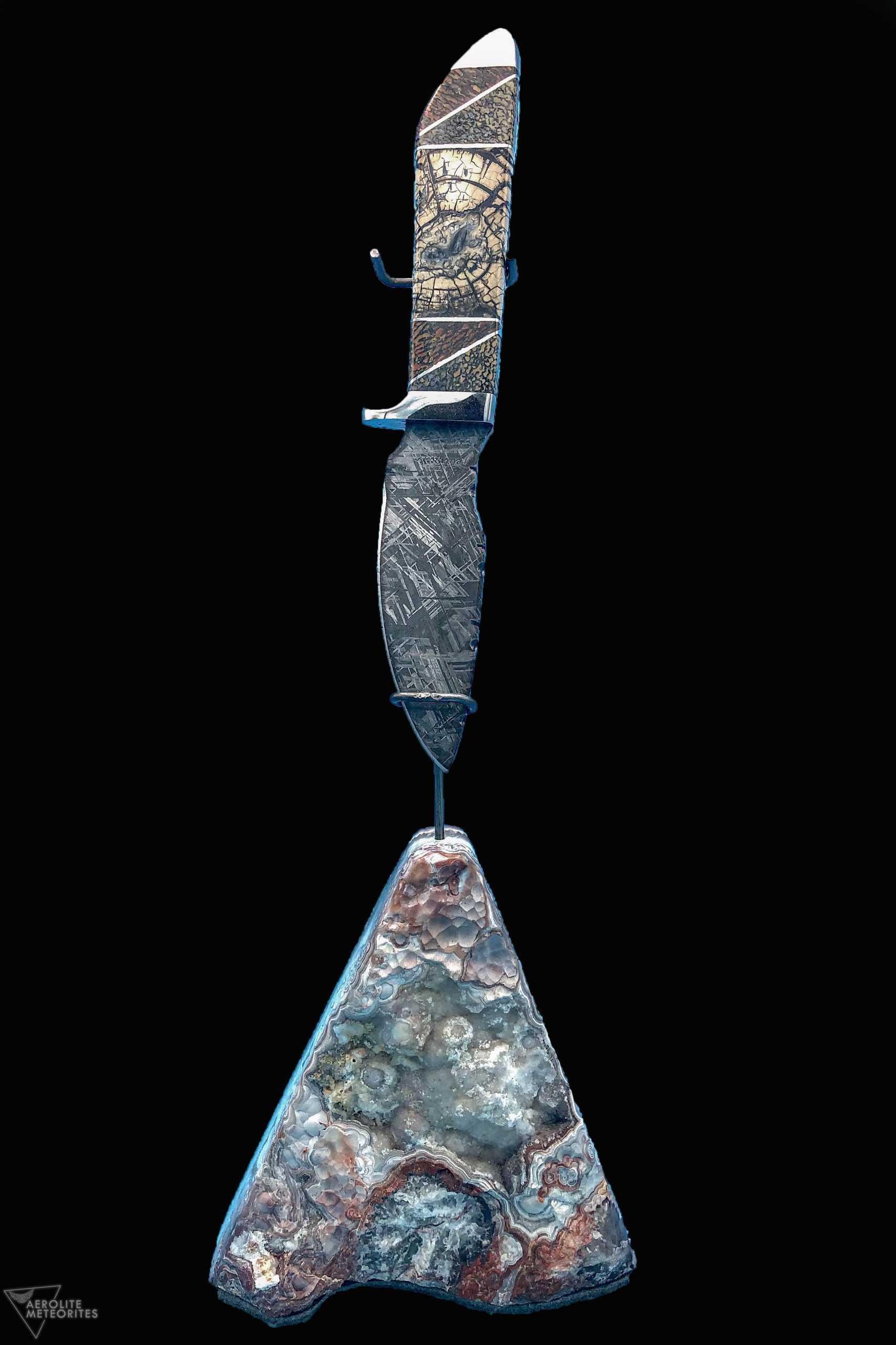 meteorite dinosaur bone knife