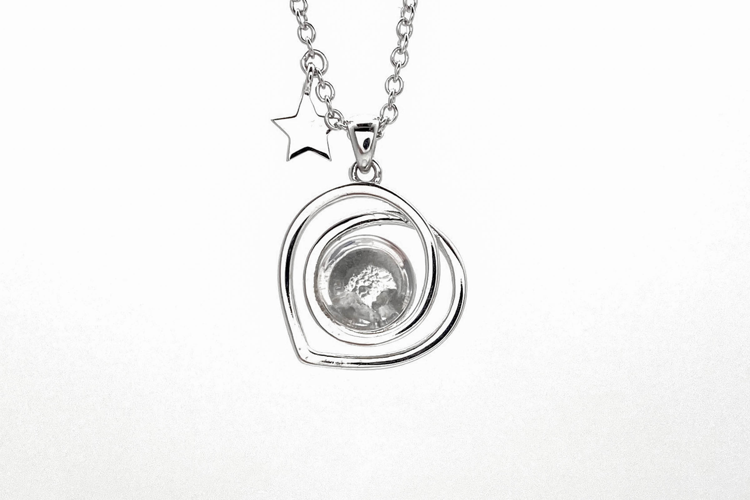 moon rock heart necklace