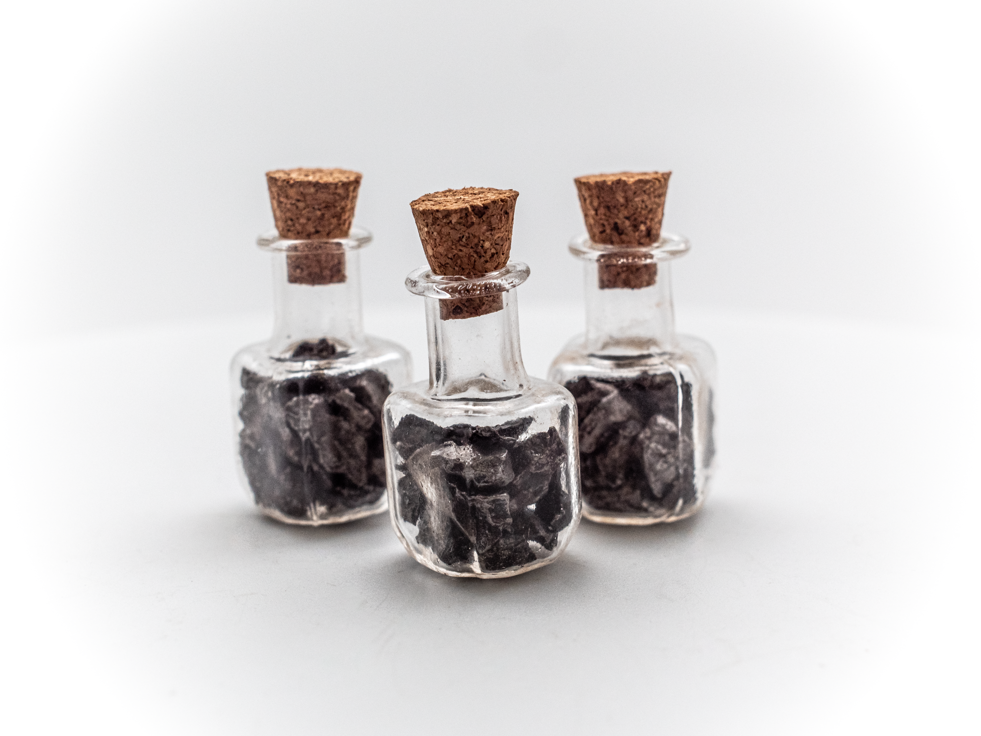 iron meteorites in vial