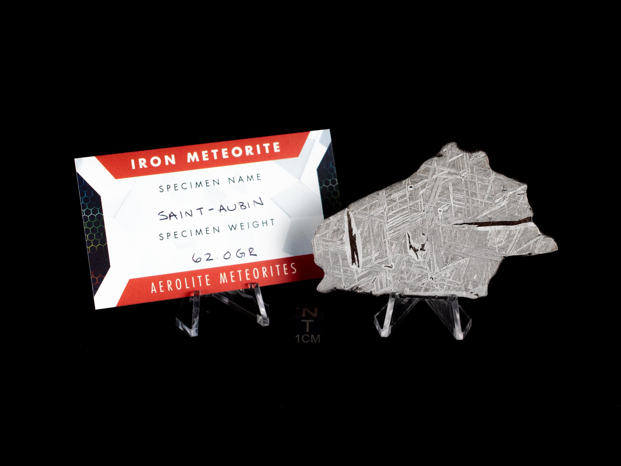 st aubin iron meteorite 62g