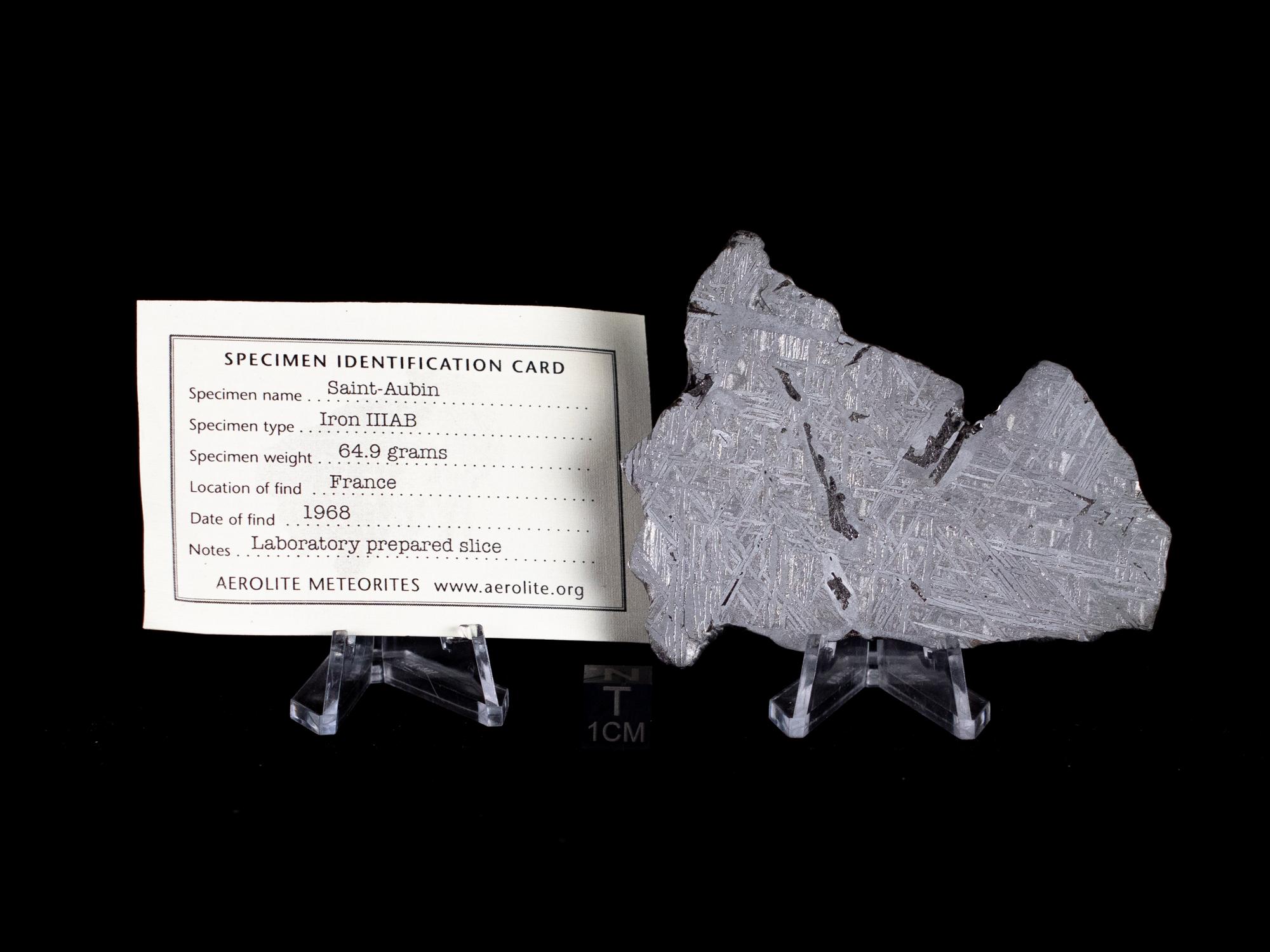 st aubin meteorite slice