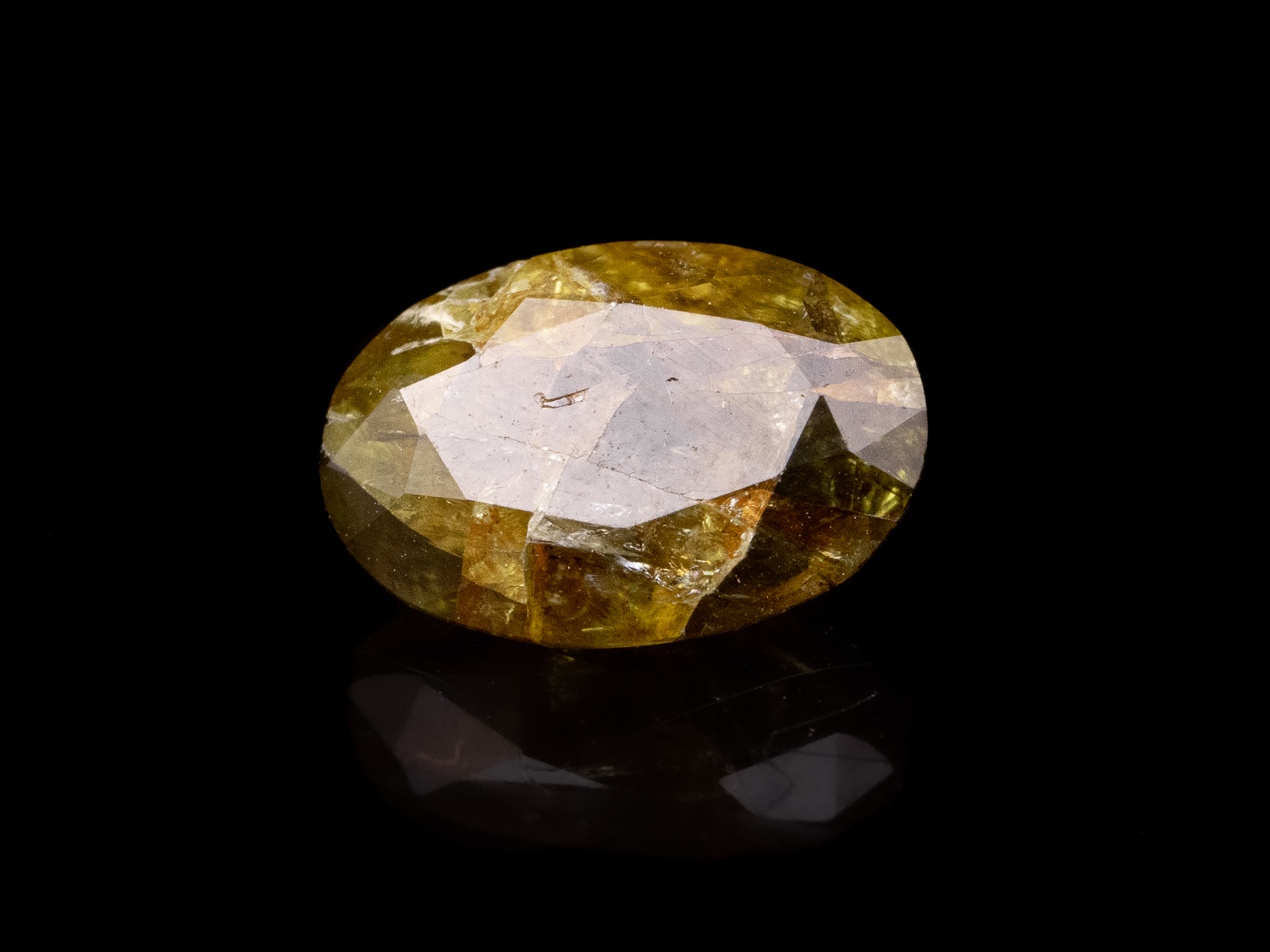 peridot faceted gem stone