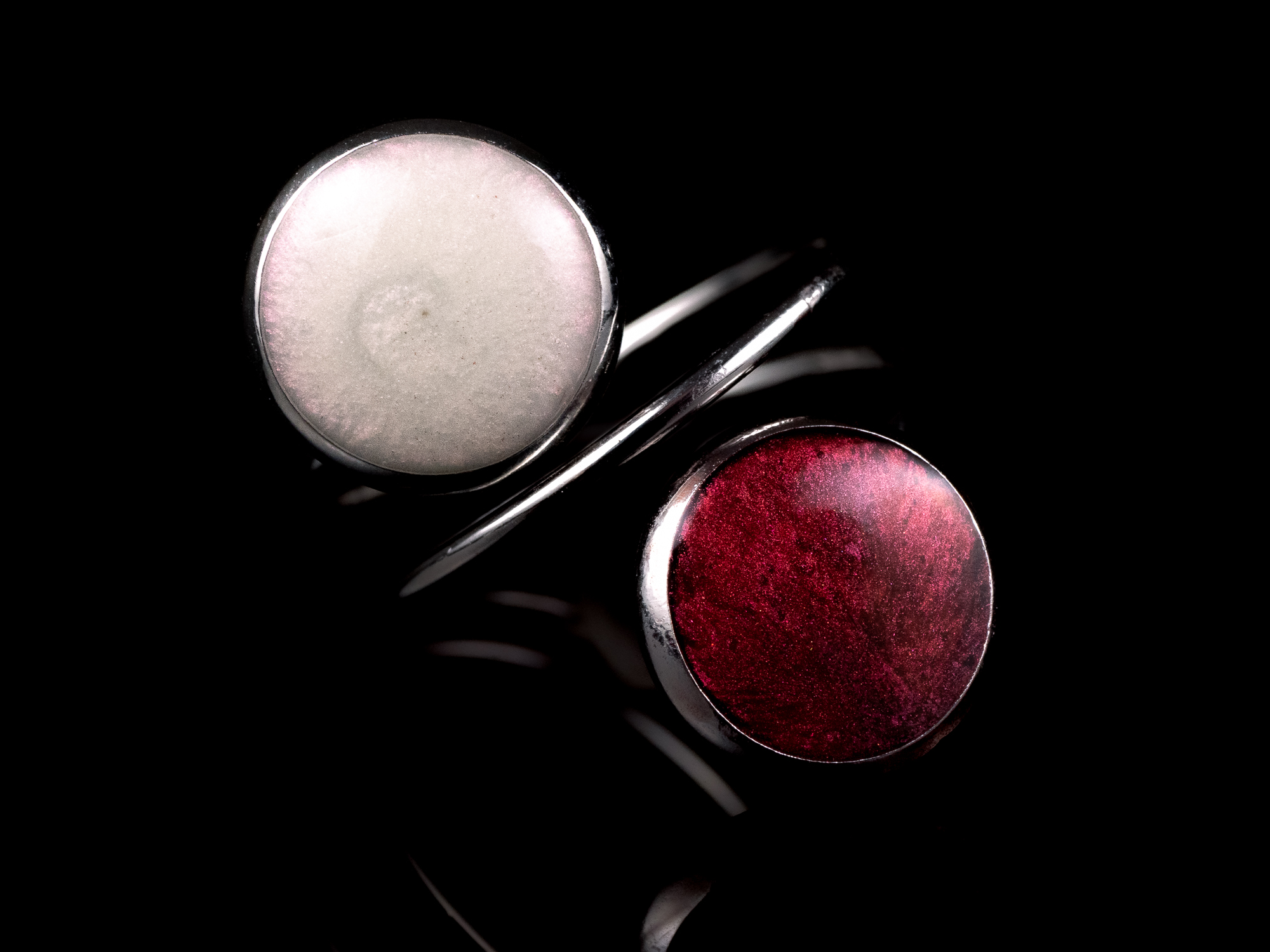 silver moon and mars ring