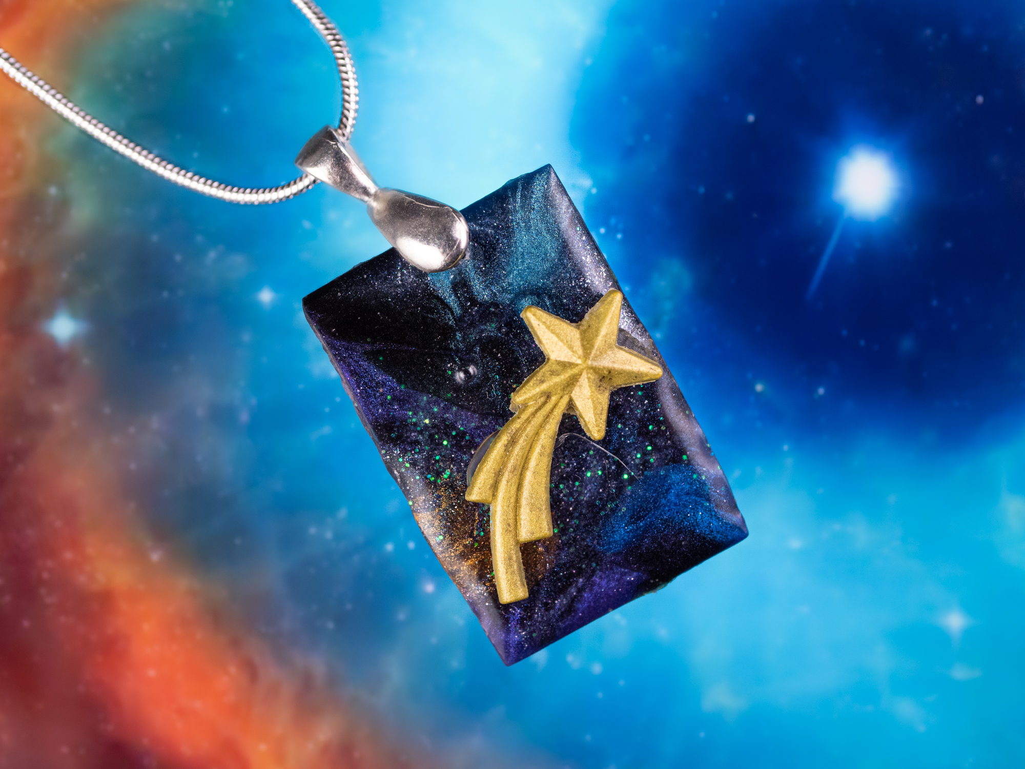 shooting star pendant